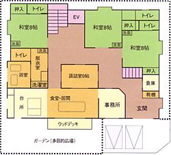 画像:仁の郷一階見取り図