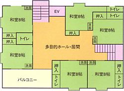 画像:仁の郷二階見取り図