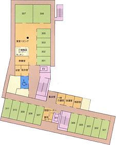 画像:ビオスの丘三階見取り図
