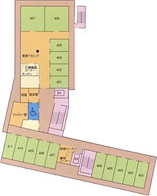 画像:ビオスの丘四階見取り図
