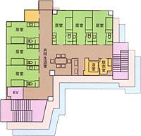 画像:ビオスの丘Ⅱ二階から四階見取り図